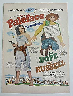 1948 The Paleface With Jane Russell & Bob Hope