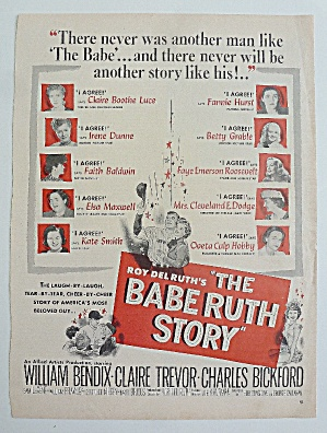 1948 The Babe Ruth Story With William Bendix