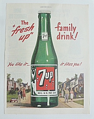 1948 Seven Up (7up) With Bottle Of 7up