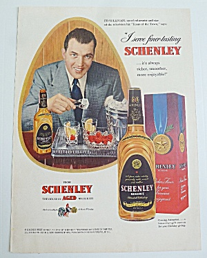 1949 Schenley Whiskey With Television's Ed Sullivan