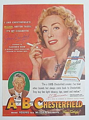 1949 Chesterfield Cigarettes With Joan Crawford (Image1)