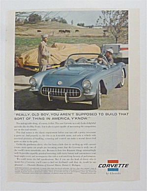 1957 Chevrolet Corvette With A Blue Corvette