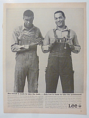 1963 Lee Jeans With Man In Different Overalls