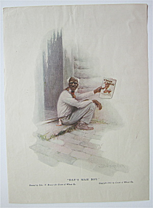 1918 Cream of Wheat Cereal with Old Man Holding Picture (Image1)