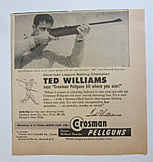 1958 Crosman Pellguns W/ Baseball's Great Ted Williams