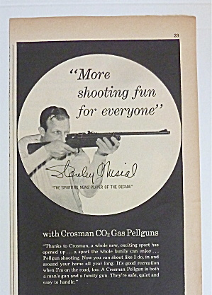 1959 Crosman Hahn Pellguns With Baseball's Stan Musial