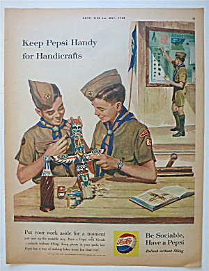 1960 Pepsi Cola (Pepsi) with Boy Scouts & Handicrafts (Image1)