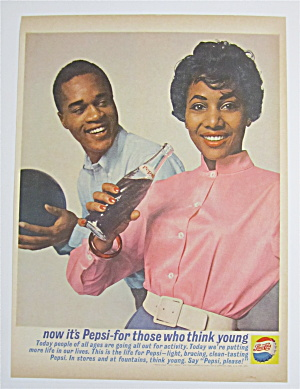 1962 Pepsi Cola (Pepsi) With Man & Woman Bowling