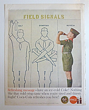 1960 Coca Cola (Coke) With Boy Scout Field Signals