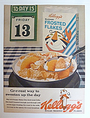 1963 Kellogg's Frosted Flakes With Friday The 13th