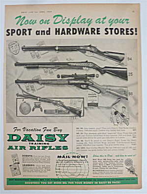 1958 Daisy Training Air Rifles with Display of Guns (Image1)