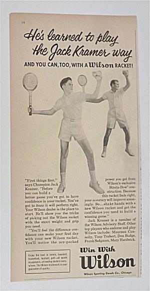 1958 Wilson Tennis Racket with Jack Kramer (Image1)