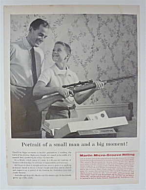 1959 Marlin Micro-groove Rifle With Boy Holding Rifle