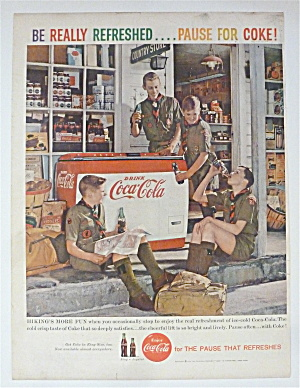 1959 Coca Cola (Coke) With Boys Scouts Drinking Coke