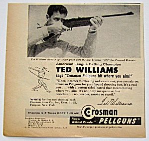 1958 Vintage Crosman Pellguns With Ted Williams