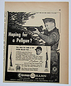 1960 Vintage Crosman Hahn Pellgun With Nelson Fox