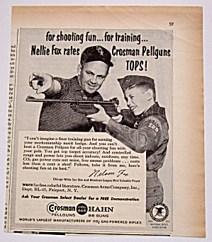 Vintage 1960 Crosman Hahn Pellguns With Nellie Fox