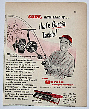 1959 Garcia Mitchell #304 Spinning Reel With Young Boy (Image1)
