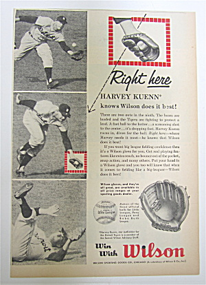 1959 Wilson Glove With Harvey Kuenn