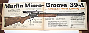 Vintage 1959 Marlin Guns With Marlin Micro Groove 39-a