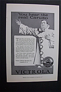 Vintage Ad: 1920 Caruso For Victrola & American Express