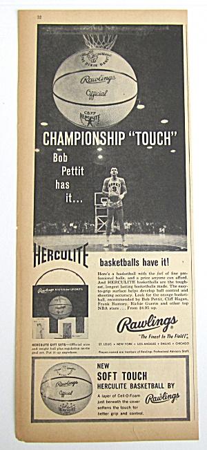 1960 Vintage Rawlings Herculite Basketball (Image1)
