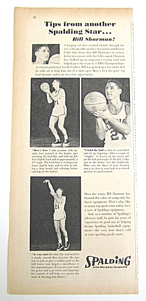 1961 Vintage Spalding Basketball Tips
