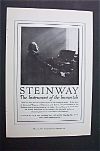 Vintage Ad: 1920 Steinway Pianos & Grape - Nuts Cereal