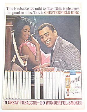 Vintage 1962 Chesterfield Cigarettes With Piano Player