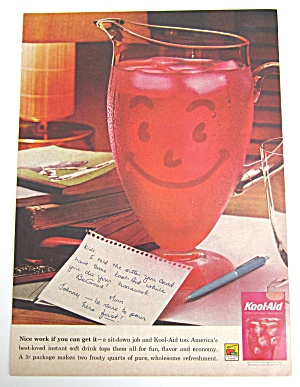 1962 Vintage Kool Aid With Pitcher & Note To Kids