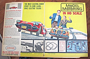 1960 Vintage Aurora Model Motoring With Man & Son
