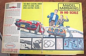 1960 Vintage Aurora Model Motoring With Man & Son (Image1)