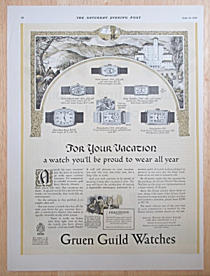1928 Gruen Guild Watches With Different Watches