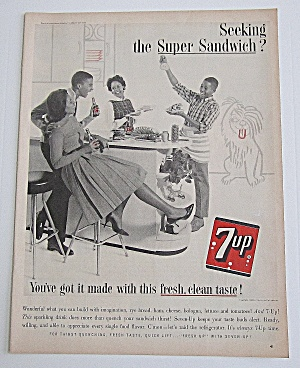 1963 7up With Kids Making Super Sandwiches