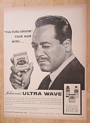 1963 Johnson's Ultra Wave With Man Winking
