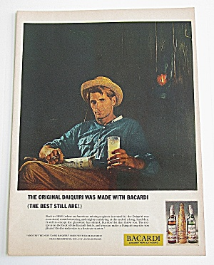 1963 Bacardi With Man Holding A Drink In His Hand (Image1)