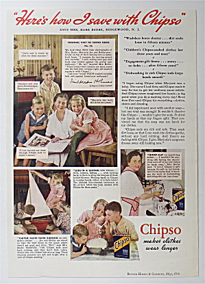 1936 Chipso Quick Suds With Woman & Her Children