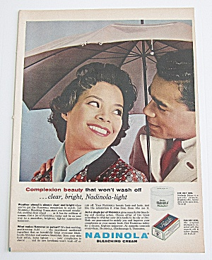 1963 Nadinola With Man & Woman Under Umbrella