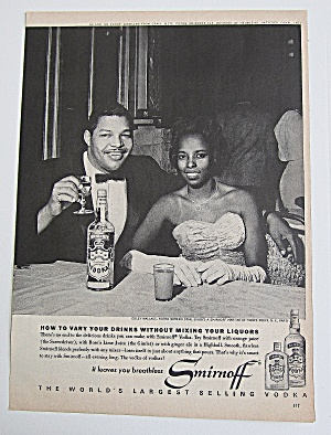 1963 Smirnoff Vodka With Coley Wallace (Image1)