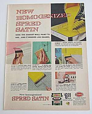 1963 Spred Satin Paint With Its Many Uses & Colors