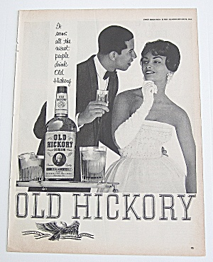 1963 Old Hickory With Man & Woman Talking