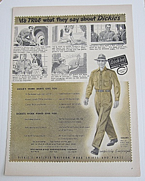 1950 Dickies With Different Uses For Shirts & Pants