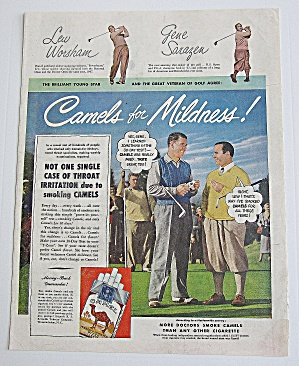 1949 Camel Cigarettes With Lew Worsham & Gene Sarazen