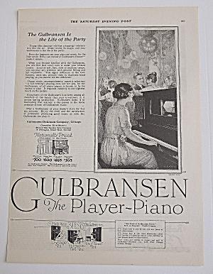 1922 Gulbransen Piano With Woman Playing Piano (Image1)
