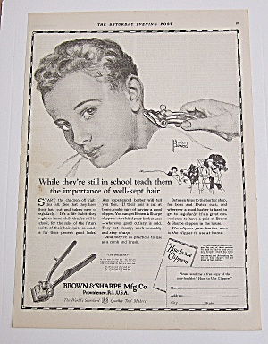 1923 Brown & Sharpe Clippers With Boy By Marion Powers
