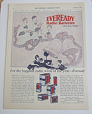 1924 Eveready Radio Batteries With A Church Choir