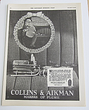 1925 Collins & Aikman Plush With Santa Claus