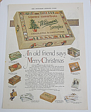 1924 Whitman's Sampler With Variety Of Candy Boxes