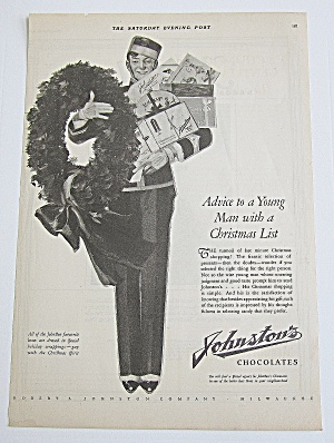 1925 Johnston's Chocolates W/ Bellboy & Boxes Of Candy (Image1)