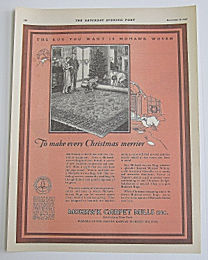 1925 Mohawk Carpet Mills With Kids Unrolling Rug